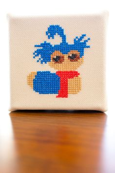 Nah...I'm just a worm. Labyrinth Worm Cross Stitch Digital Pattern.