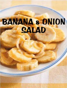 South African Recipes | BANANA AND ONION SALAD South African Braai, South African Dishes, South African Recipes, African Salad, Banana Salad, Onion Salad, Healthy Menu, What To Cook, International Recipes