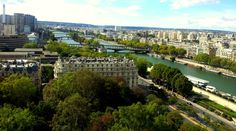 Magical view from the Eiffel Tower, Paris