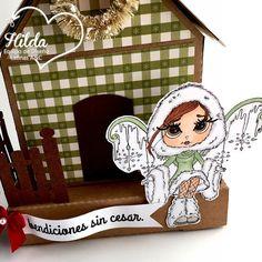 Latinas Arts and Crafts: Reto #49: Casitas de Navidad