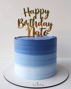 Simple Birthday Cake Designs, Cake Designs For Boy, Cake Design For Men, Simple Cake Designs, Simple Cakes, Round Birthday Cakes, Birthday Cake For Husband, Elegant Birthday Cakes, Beautiful Birthday Cakes