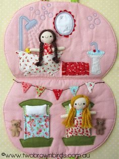 The dreams, designs and doings of a crafty stay-at-home-Mum. Fabric Toys, Felt Fabric, Felt Doll House, Brown Bird, Happy Campers, Operation Christmas, Sewing Toys, Bird Design, Cute Pattern