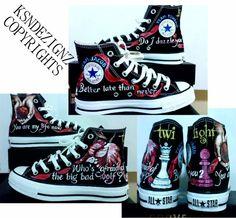 ba4220a7efe Twilight Saga hand painted any size converse shoes