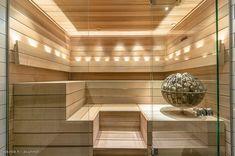 Modern Finnish Sauna room
