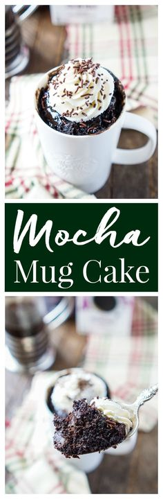 This Mocha Mug Cake is bold and rich and so easy to make! It's ready to eat in less than 5 minutes and loaded with notes of coffee, chocolate, and sugar! #MakeItMerrier #holidays [ad] @starbucks