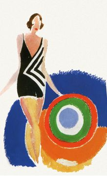 Sonia Delaunay (1885-1979) - Her work extends to painting, textile design and stage set design. She was the first living female artist to have a retrospective exhibition at the Louvre (Paris) in 1964.