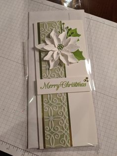 Christmas Card Crafts, Christmas Cards To Make, Xmas Cards, Holiday Cards, Poinsettia Cards, Christmas Poinsettia, Christmas 2016, Birthday Cards For Women, Stamping Up Cards