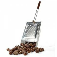 Chestnut roaster.  Wouldn't this be fun in front of the fire?