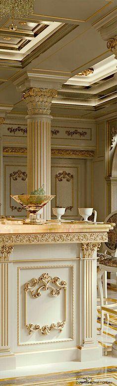 Luxury Kitchen Archives - Page 2 of 10 - Luxury Decor Villa Interior, Luxury Interior Design, Elegant Kitchens, Luxury Kitchens, Elegant Home Decor, Elegant Homes, Classic Kitchen, Mediterranean Kitchen, Classic Interior