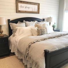 bedroom bedding 45 Most Popular Rustic Farmhouse Bedroom Design and D. - bedroom bedding 45 Most Popular Rustic Farmhouse Bedroom Design and Decorating Ideas – - Farmhouse Master Bedroom, Farmhouse Interior, Rustic Farmhouse, Farmhouse Style, Farmhouse Design, Farmhouse Ideas, Shabby Chic Master Bedroom, Glam Bedroom, Cottage Style