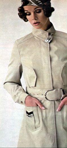1969 Fashion, Seventeen Magazine, February, High Neck Dress, Coat, Jackets, Dresses, Turtleneck Dress, Down Jackets