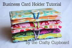 Good tutorial for business card holder. Could be used for phone covers, gift card holders, etc...