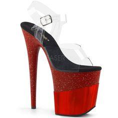 Pleaser Aspire 608 Black Plate-Forme Pole Dancing Sandales Chaussures