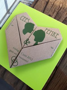 Origami Wedding invitation by Cees Mensen, via Behance