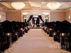 Black and white ceremony space