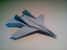How to make an F15 Eagle Jet Fighter Paper Plane (Tadashi Mori) - YouTube