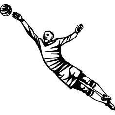 Football keeper vector image