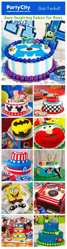 Nibble on 100s of yummy ideas the b-day boy and his buds will eat up! Monsters U, Mickey, Cars… so many CUTE cakes, so little time. Click for the how-to's... easy & fun!