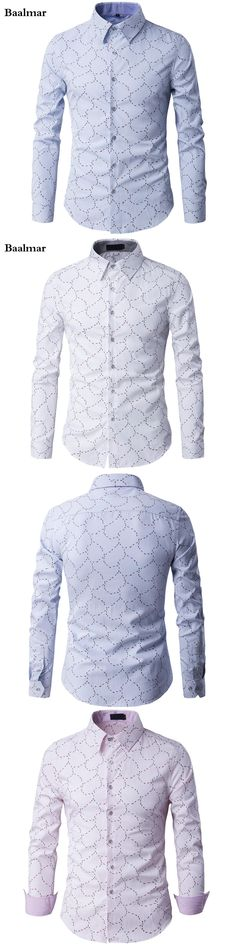 2017 New Fashion Brand Clothing Shirt Men Long Sleeve Slim Fit Mens Dress Shirts Male Casual Chemise Camisetas Social Camisa