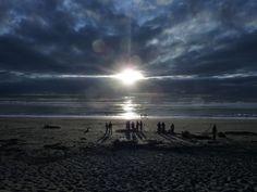 Lake Mahinapua beach, New Zealand. Taken by a Kiwi Experience passenger.