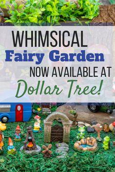 Fairy Garden Pots, Fairy Gardens, Garden Buildings, Online Deals, Garden Gates, Dollar Tree, Whimsical, Gardening, Posts
