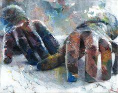 Saatchi Online Artist David Agenjo; Painting, Hands-on XIII #art