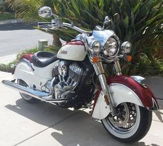 White and red 2 tone Vintage custom'Indian