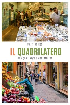 The Quadrilatero, Bologna Italy's oldest market is also a premier destination for foodies looking to explore the Bologna market scene. | things to do in Bologna | Bologna food markets | Where to shop in Bologna | local markets Bologna | oldest market in Bologna Italy Travel Tips, Europe Travel Guide, Travel Guides, Travelling Europe, Bologna Food, Bologna Italy, Amalfi, Positano, Italy Destinations