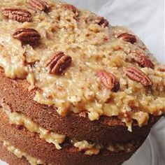 German cake nut cover - Pastry World Cake Filling Recipes, Cake Recipes, Drink Recipes, Cake Cookies, Cupcake Cakes, Glaze For Cake, German Cake, Fantasy Cake, Pan Dulce
