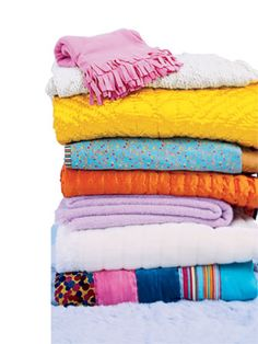 Caring for Textiles, Curtains, Pillows, and Blankets About twice a year, show cushions, pillows, comforters, throws, and slipcovers a
