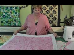 Self Binding Baby Quilt. I love Jenny Doan. I have learned more from her about sewing than anyone else.