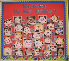 Put in a place they can learn each othera names. A wall display from the Reception/Year 1 classroom Nursery Display Boards, Classroom Display Boards, Classroom Organisation, Classroom Displays Primary Working Wall, Classroom Displays Eyfs, Reception Classroom Ideas, Preschool Displays, Primary School Displays, Our Class Display