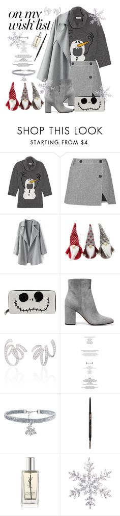 """""""#PolyPresents: Wish List"""" by immyowndoll ❤ liked on Polyvore featuring Moschino, Topshop Unique, Loungefly, Gianvito Rossi, StyleNanda, Yves Saint Laurent, contestentry and polyPresents"""