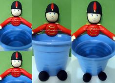 Toy soldier goodie bag pot