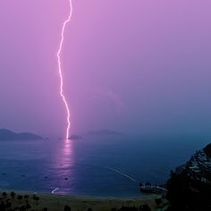 Island off shore of Repulse Bay in Hong Kong during summer monsoon rain storm Rain Storm, Storm Clouds, Nature Pictures, Beautiful Pictures, Beautiful Sites, Monsoon Rain, Thunder And Lightning, Lightning Bolt, Wild Weather
