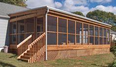 Pergola For Small Patio Key: 8439905433 Enclosed Decks, Enclosed Porches, Decks And Porches, Mobile Home Deck, Decks For Mobile Homes, Screened In Deck, Screened Porches, Building A Porch, Remodeling Mobile Homes