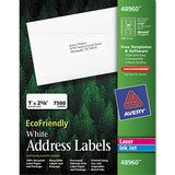 EcoFriendly Labels (1 x 2 5/8- White, 7500/Pack)