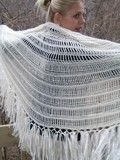 Free Alpaca Angel Crochet Shawl Pattern