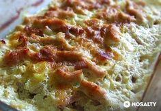Jénaiban sült sajtos-tejszínes csirkemellcsíkok