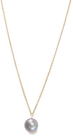 ORA Pearls 14kt Gold XXL White Pearl Pendant Necklace HRQPA