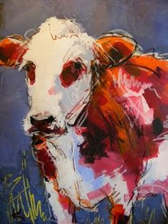 I don't know why, but I love paintings of cows.