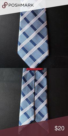innovative design 4bc9a 8cd1a Men s 100% silk necktie Men s Zeneicia Hozien necktie Blue, light blue,  white line