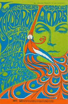 Yardbirds POSTER Doors James Cotton Richie Havens Fillmore BG75 Bonnie MacLean