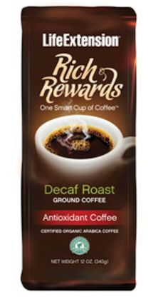 Rich Rewards Decaf Roast (Ground) Coffee Life Extension 12 oz Container *** Read more reviews of the product by visiting the link on the image.