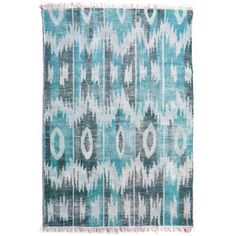 Hand knotted by master craftsmen, this outdoor/indoor area rug creates a wonderful space. Designed with long lasting high quality fibers and finished with a hand knotted fringe with bound edges.     Color: Multi  Material: Polyester  Quality: Knotted