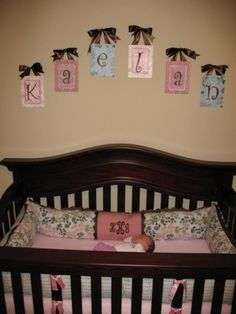 Custom Hand Painted Canvas Letters Nursery by PatonLaneDesigns, $16.00