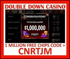 Double down casino promo codes for 1 million chips horseshoe casino poker tunica