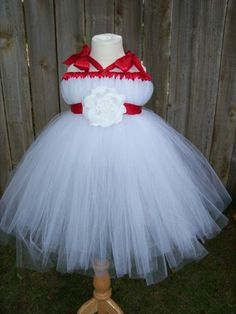 Red and White tutu dress  WeddingWire