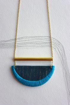 Ero Pendant - Indigo and Bright Blue Nook of the North