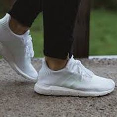 half off 1069e 7c4af Adidas Swift Run Sneakers White Size 6-9 Womens Shoes NMD Boost Y-3